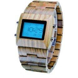 Деревянные часы Bewell ZS-W021B