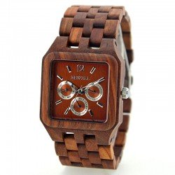 Деревянные часы Bewell ZS-111B