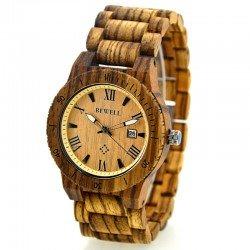 Деревянные часы Bewell ZS-W109B