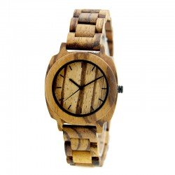 Деревянные часы Bewell ZS-W098