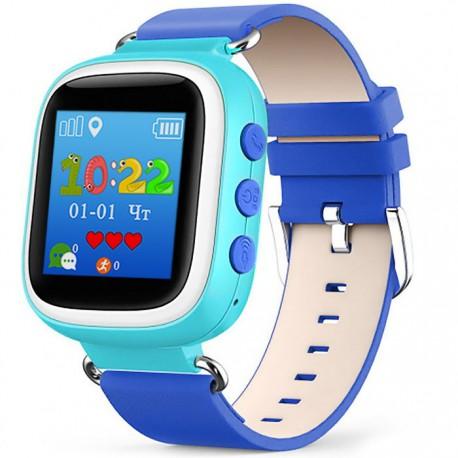 Детские часы с GPS Baby Watch Q60 S с цветным экраном (голубые)