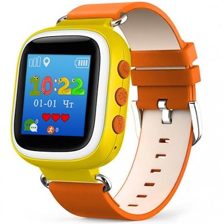 Детские часы с GPS Baby Watch Q60 S с цветным экраном (оранжевые)