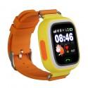 Детские часы с GPS Baby Watch Q90 (Q80,GW100) с сенсорным цветным экраном (оранжевые)