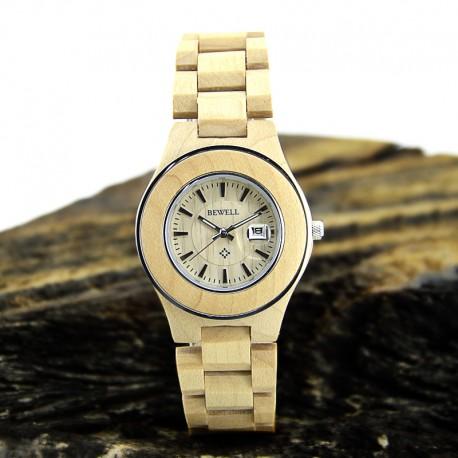 Деревянные часы Bewell ZS-W100AG lady (maple)