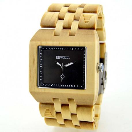 Деревянные часы Bewell ZS-W017B
