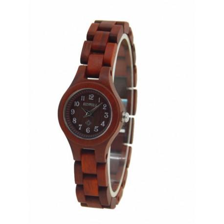 Деревянные часы Bewell ZS-W123A (red sandal)