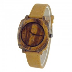 Деревянные часы Bewell ZS-W098B (zebra)