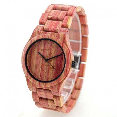 Деревянные часы Bewell ZS-W105DL lady (red)
