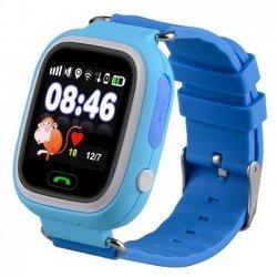 Детские часы с GPS Baby Watch Q90 (Q80,GW100) с сенсорным цветным экраном (голубые)