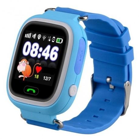 Детские часы с GPS Baby Watch Q90 с сенсорным цветным экраном (голубые)