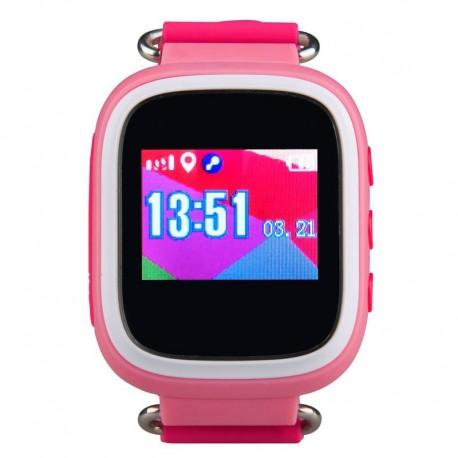Детские часы с GPS Baby Watch GW100S с цветным экраном водонепроницаемые(розовые)