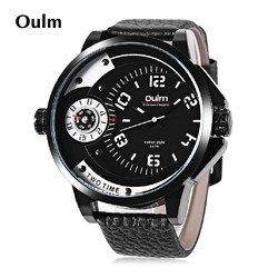 Наручные часы Oulm с двумя циферблатами HP3706-4