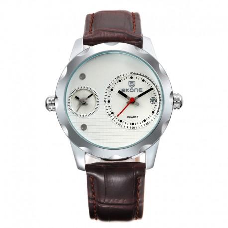 Наручные часы Skone 9245-1 с двумя циферблатами