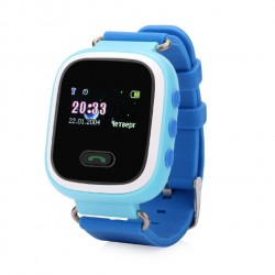 GW900S Детские часы с GPS Baby Watch GW900S orange с цветным узким экраном (голубые)