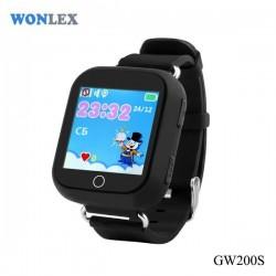 GW200S-Black Детские часы Smart Baby Watch GW200S Black Черные