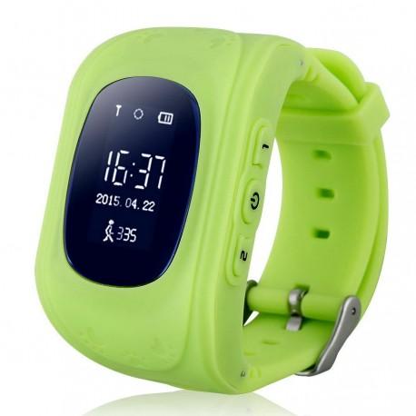 Старый Детские часы с GPS трекером Baby Watch Q50 (зеленые)
