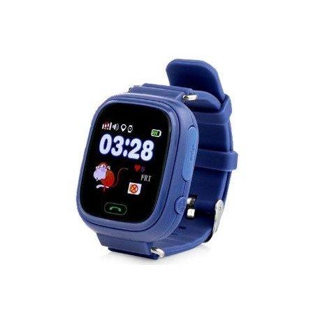 Детские часы с GPS Baby Watch Q90 с сенсорным цветным экраном (темно-синие)