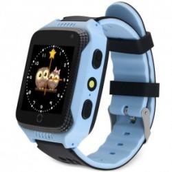Детские часы с GPS с камерой и фонариком GW500S Голубые