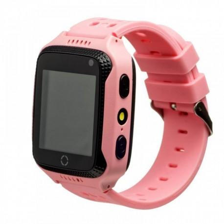 Детские часы с GPS с камерой и фонариком GW500S Розовые
