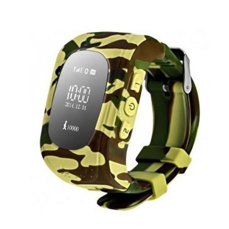 Детские часы с GPS Baby Watch Q50 OLED (милитари желтый)