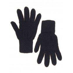 Перчатки женские однотонные С ВОРСОМ (Однотонные черные с красным ворсом)