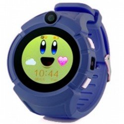 Детские GPS часы Smart Baby Watch GW600 dark blue (синие)
