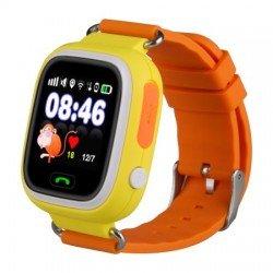Детские часы с GPS Baby Watch Q90 с сенсорным цветным экраном (оранжевые)