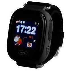 Детские часы с GPS Baby Watch Q90 (Q80,GW100) с сенсорным цветным экраном (черные)