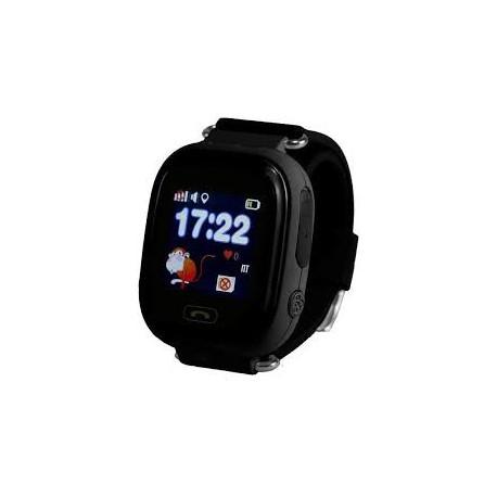 Детские часы с GPS Baby Watch Q90 с сенсорным цветным экраном (черные)