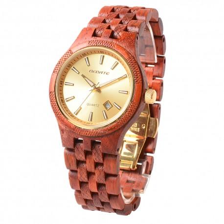 Деревянные часы Bewell ZS-141A (Rose wood)