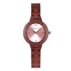 Деревянные часы Bewell ZS-150A (Rose wood)