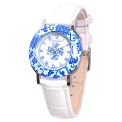 Деревянные часы Bewell ZS-1064A (White)