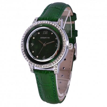 Деревянные часы Bewell ZS-1065A (green)