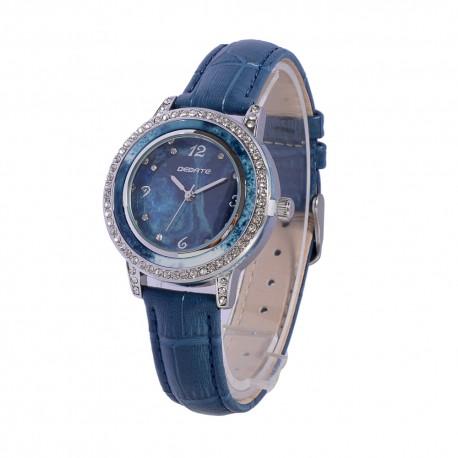 Деревянные часы Bewell ZS-1065A (blue)