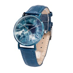 Деревянные часы Bewell 1059AG (blue)