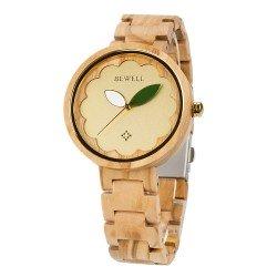 Деревянные часы Bewell 152A (Olive wood)