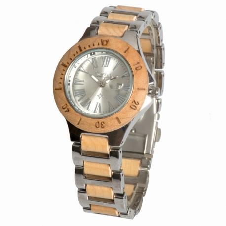 Деревянные часы Bewell ZS-W1046L (maple)