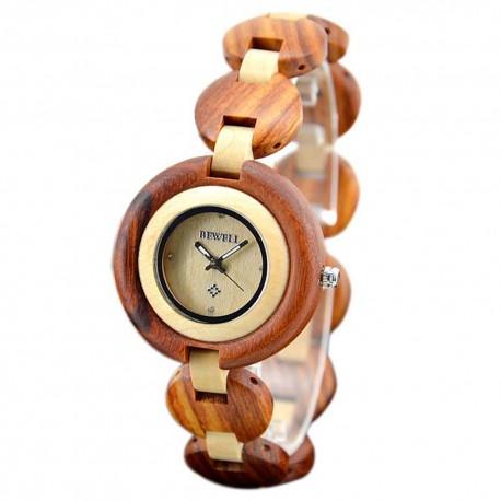 Деревянные часы Bewell ZS-W010A (red sandalwood, maple)