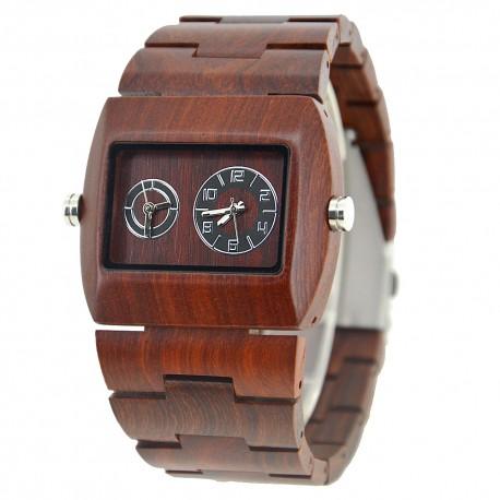 Деревянные часы Bewell ZS-W021C (red sandalwood)