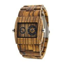 Деревянные часы Bewell ZS-W021C (zebra wood)