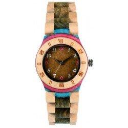 Деревянные часы Bewell ZS-2779-6 (maple, green sandalwood)