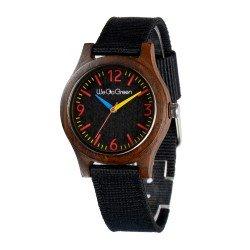 Деревянные часы WeGoGreen ZS-2779-2 (черный сандал) в деревянной коробке
