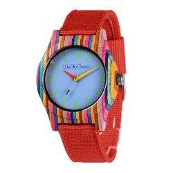 Деревянные часы WeGoGreen ZS-2779-4 (colorful bamboo)
