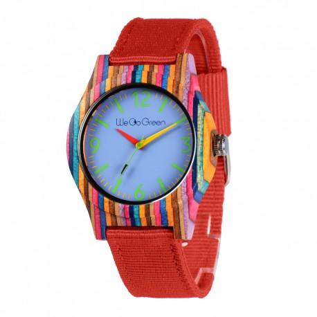 Деревянные часы Bewell ZS-2779-4 (colorful bamboo)