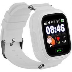 Детские часы с GPS Baby Watch Q90 с сенсорным цветным экраном (белые)