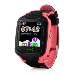 Детские GPS часы GW800 (розовые) водонепроницаемые