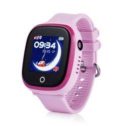 Детские водонепроницаемые часы с камерой GPS Baby Watch GW400X-wifi-pink (розовые)