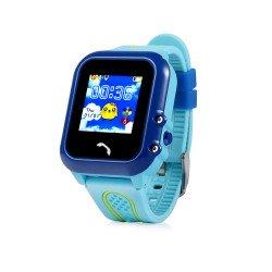 Детские водонепроницаемые часы с GPS Baby Watch GW400E-blue (голубые)