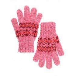 """Перчатки детские """"Орнамент"""" (Розовые с рисунком, размер 3)"""