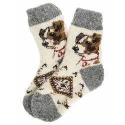 """Носки детские """"Пёс"""" (Серо-белые,размер 3)"""